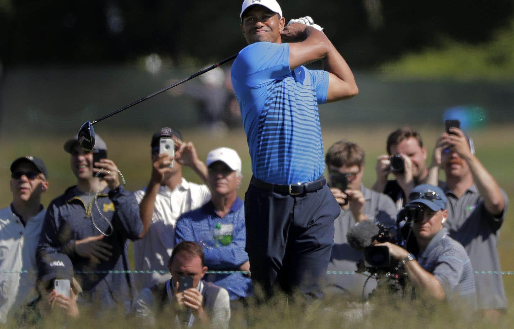Tiger Woods, mardi, à Southampton