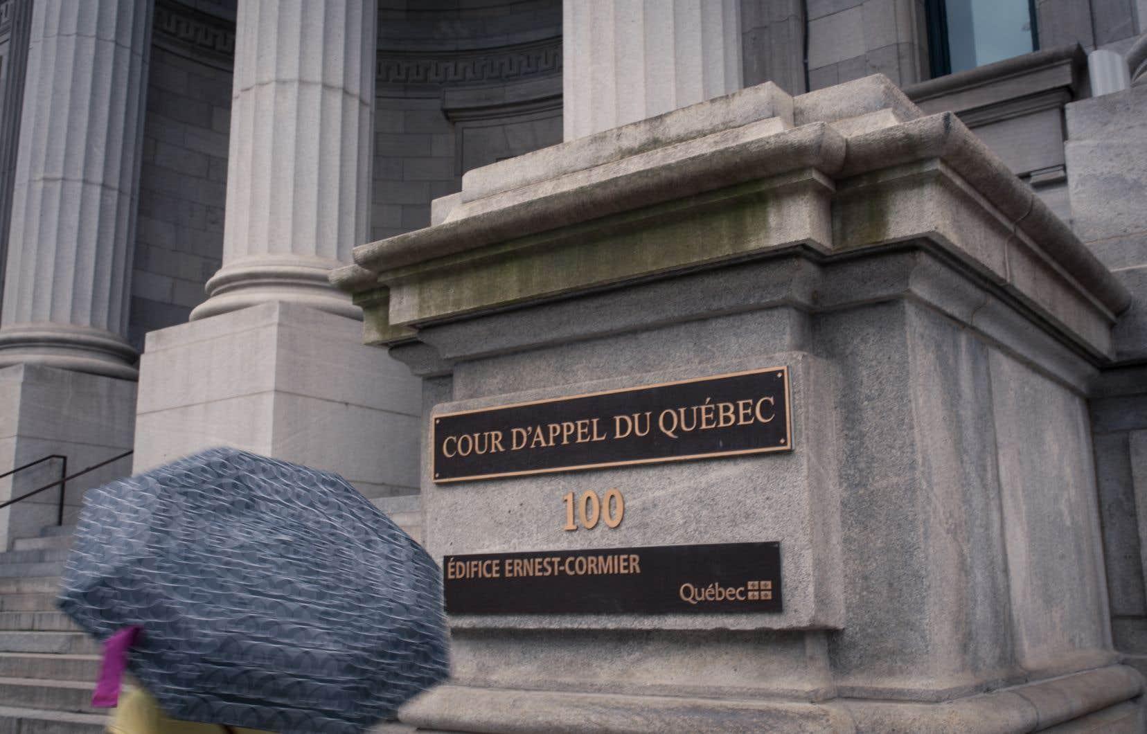 L'appel porte sur un jugement de novembre 2017, rendu par la juge Chantal Tremblay de la Cour supérieure.