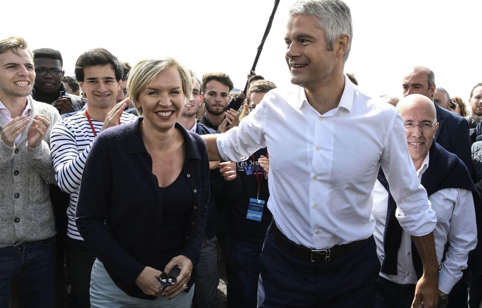 Le patron des Républicains (LR), Laurent Wauquiez, et l'ancienne n°2 du parti, Virginie Calmels