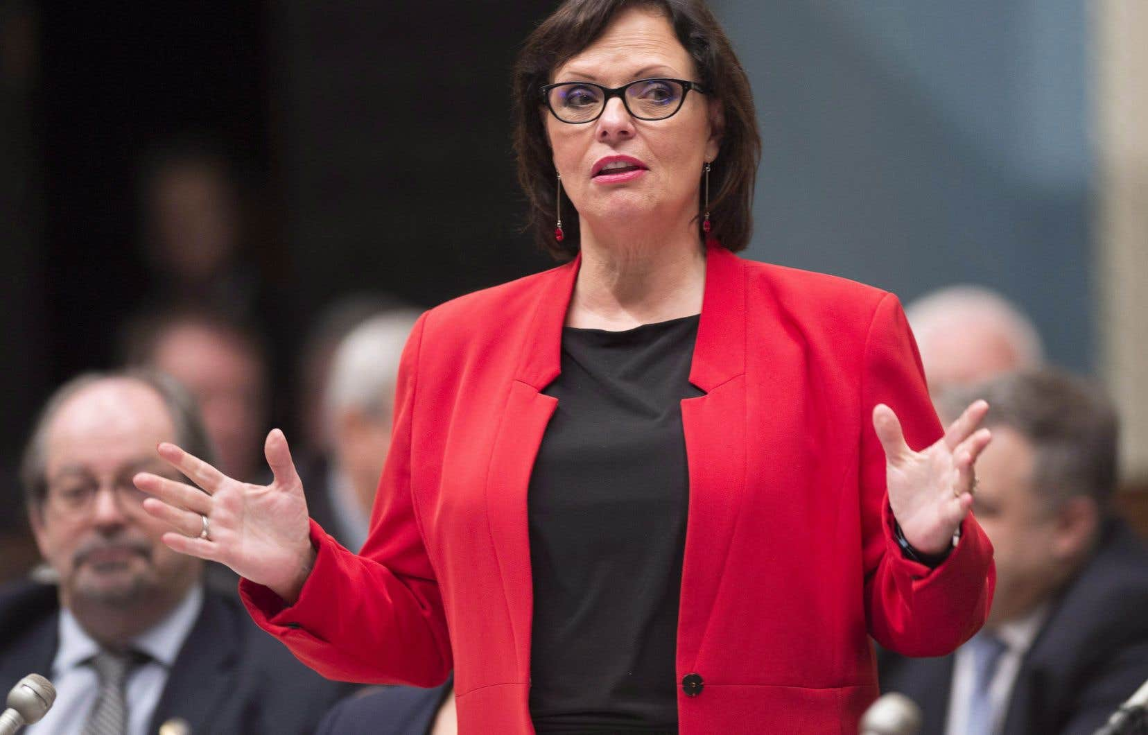 La ministre québécoise déléguée à la Santé publique, Lucie Charlebois