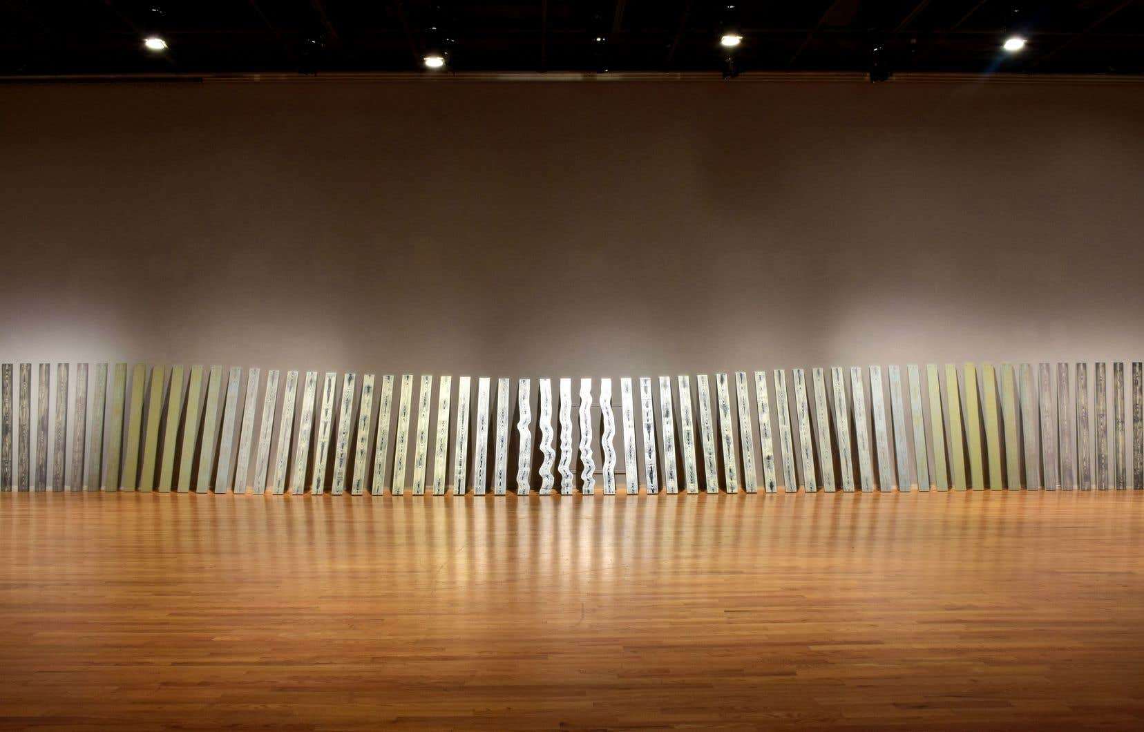 Ianick Raymond, «100 planches» (détail), 2018.