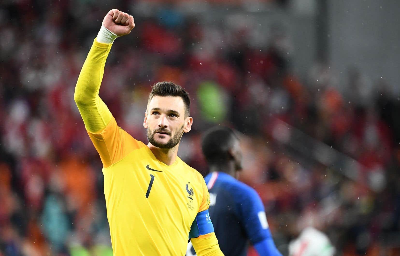 Le gardien de l'équipe de France, Hugo Lloris. «On joue contre le Pérou et on joue la contre-attaque. Il va falloir qu'on m'explique», pestent nos commentateurs amateurs, lorsque le joueur bloque un tir bas en 30eminute.