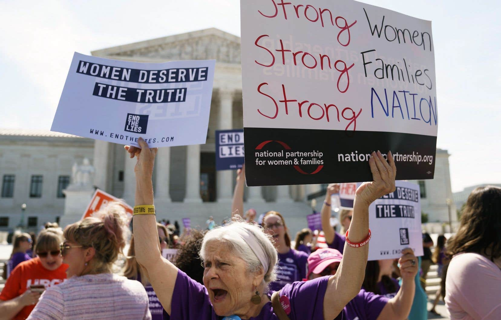 Une manifestante pro-choix, mardi, à Washington