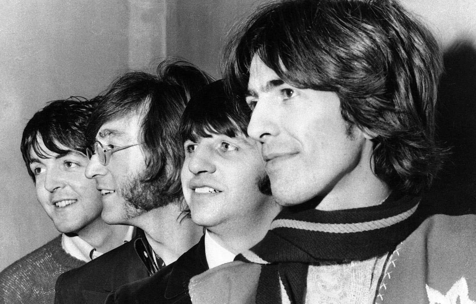 La mythique formation britannique photographiée ici en février 1968, l'année de la sortie du double disque d'abord intitulé The Beatles, puis rebaptisé «The White Album» pour l'éternité