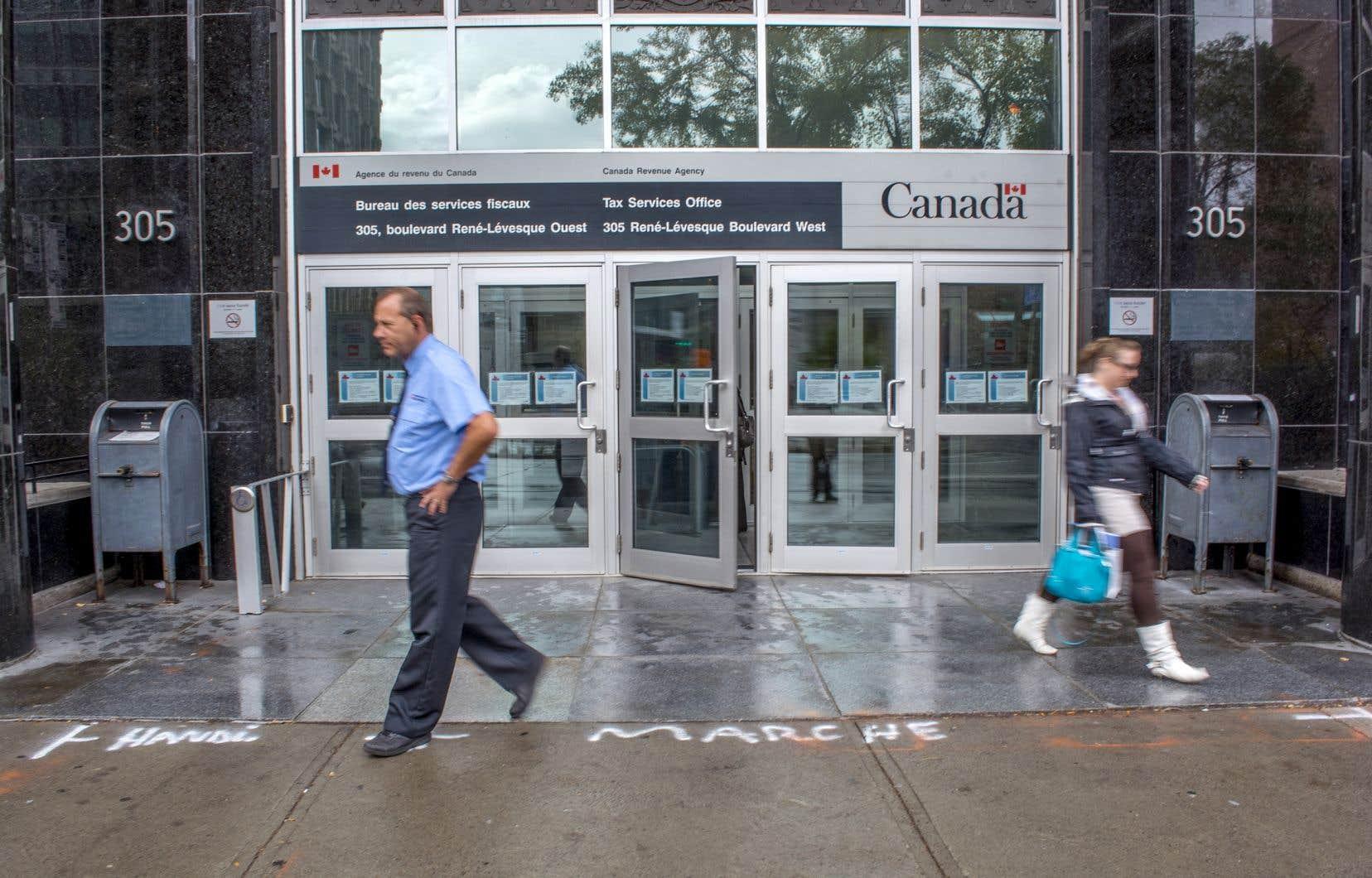 L'Agence du revenu du Canada (ARC) a publié jeudi la troisième de quatre études devant chiffrer «l'écart fiscal».