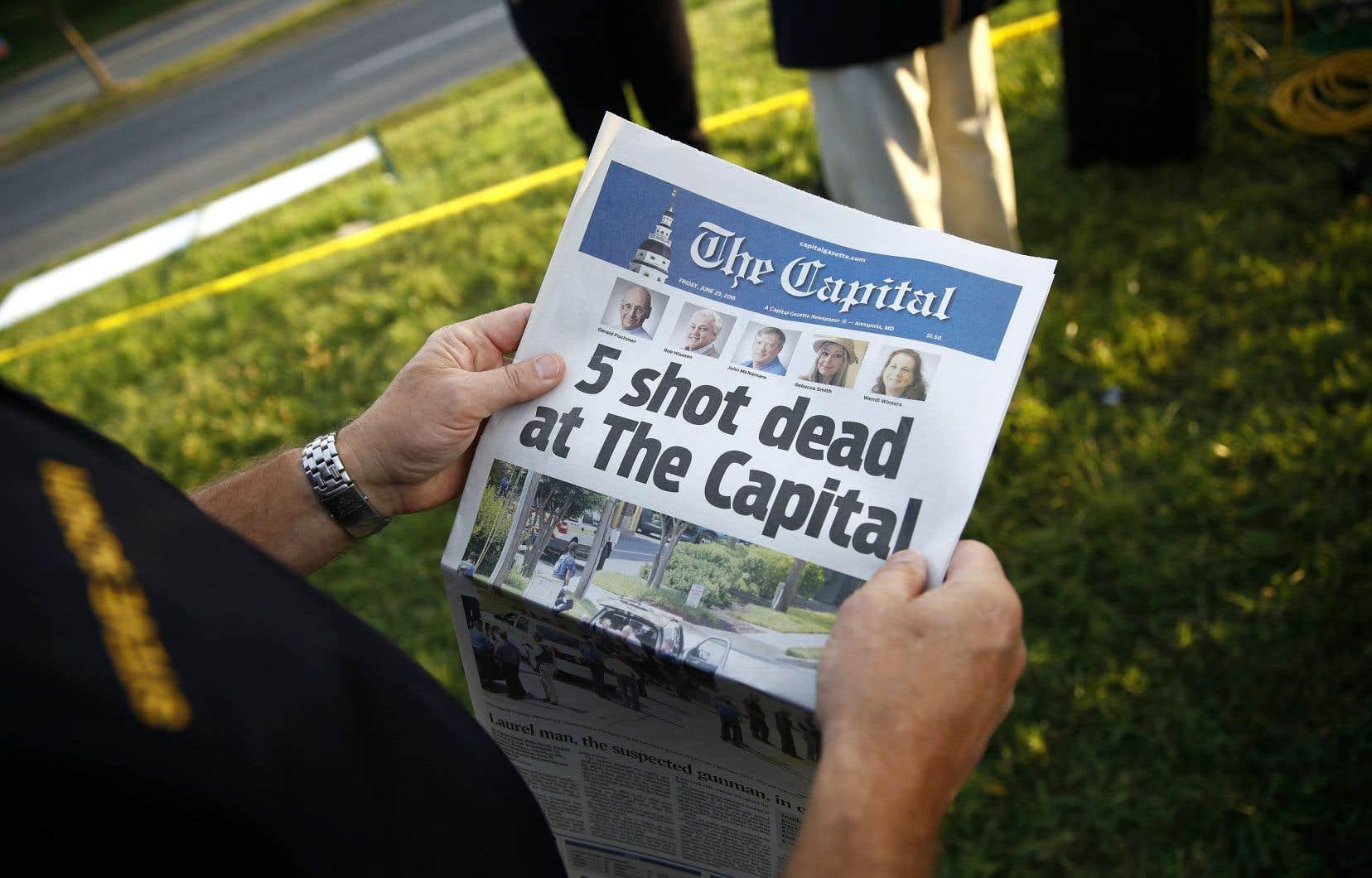 Malgré la tragédie, l'équipe du «Capital Gazette» a tenu à produire son édition du 29 juin.