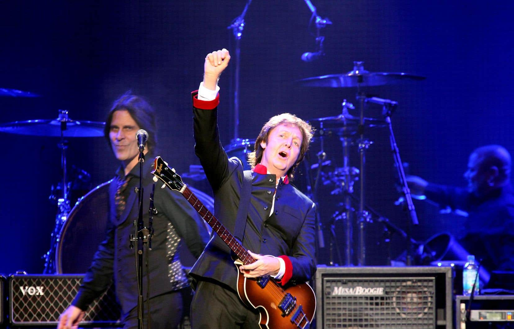 L'ancien membre des Beatles Paul McCartney au Centre Bell en 2010