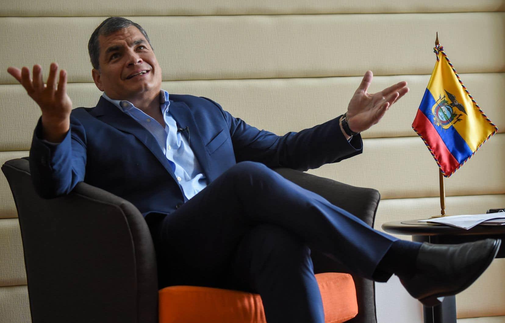 <p>Rafael Correa est installé en Belgique depuis mai 2017, après avoir quitté le pouvoir.</p>