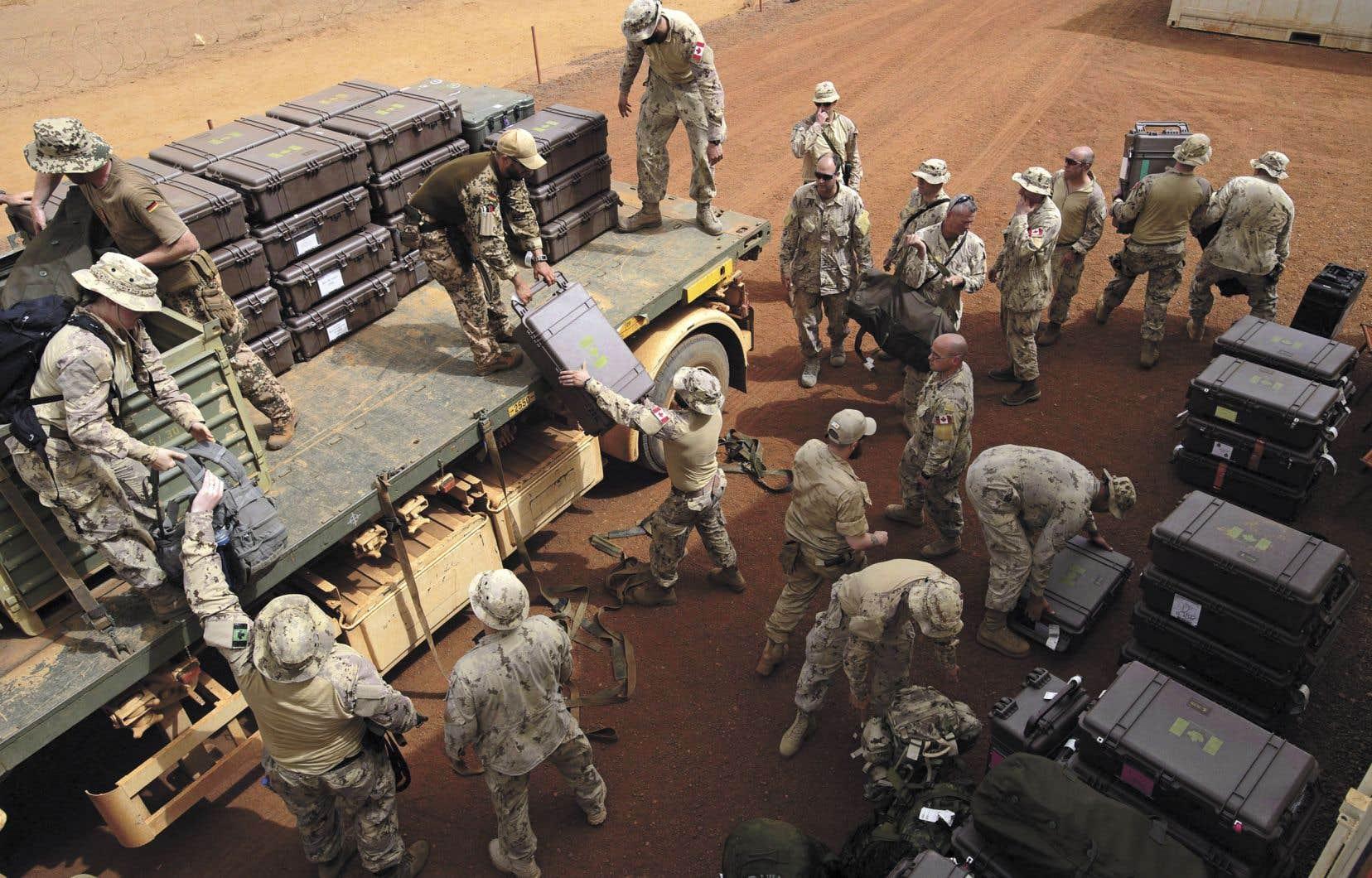 Les troupes canadiennes sont arrivées à la base des Nations unies de Gao, au Mali, le 25 juin dernier.