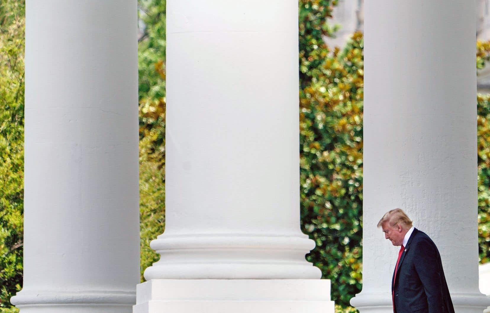 Le président américain, Donald Trump, photographié à la Maison-Blanche jeudi, à Washington