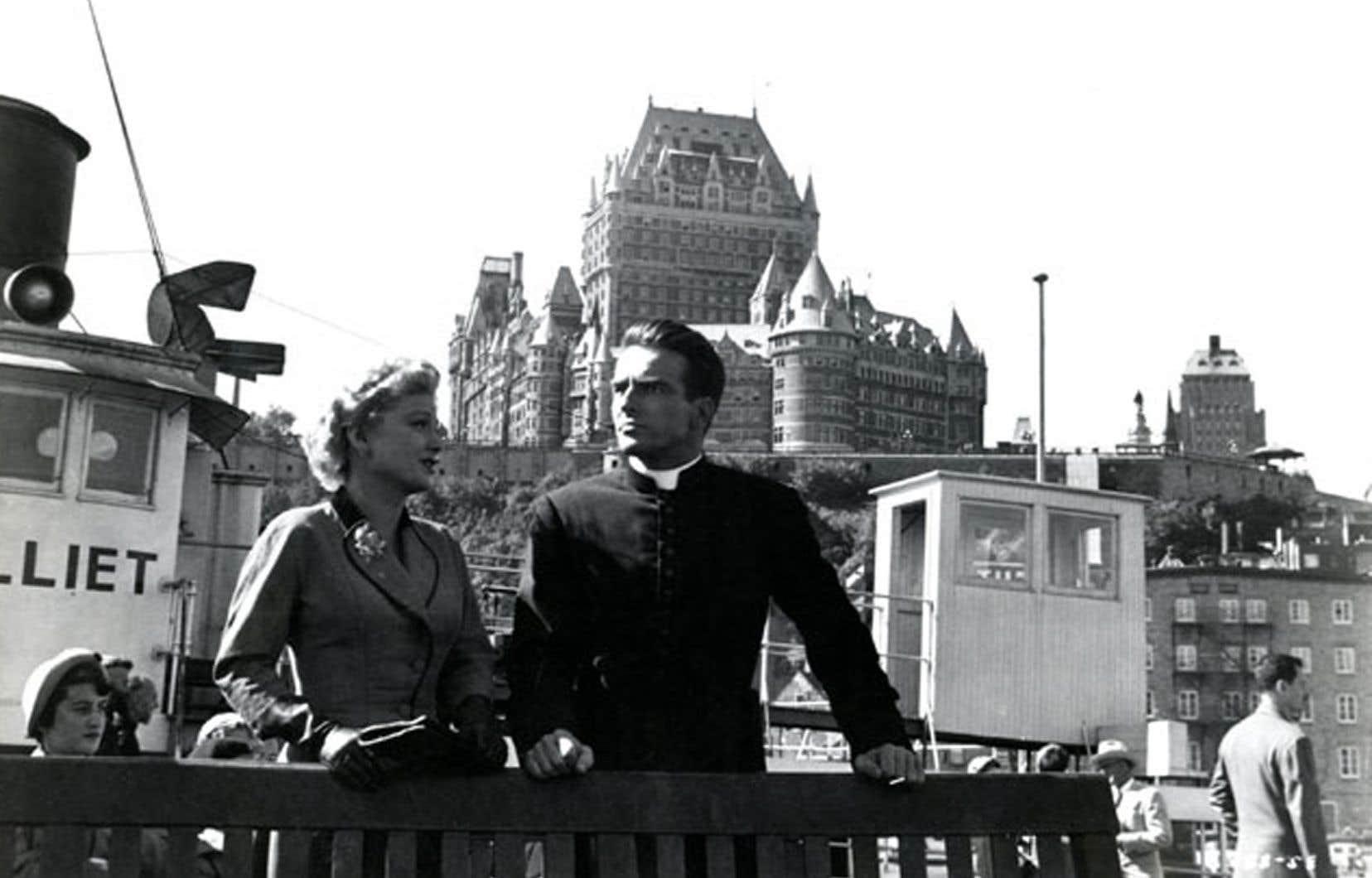 Image tirée de «I Confess», film d'Alfred Hitchcock tourné à Québec en 1953