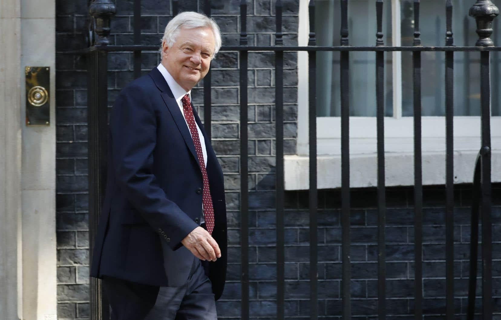 Le secrétaire britannique chargé du Brexit, David Davis
