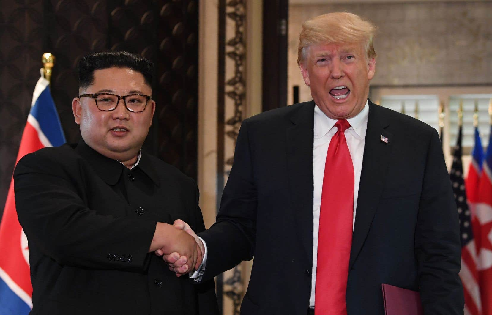 Le numéro un nord-coréen, Kim Jong-un, et le président américain, Donald Trump, se sont rencontrés et serrés la main le 12 juin dernier à Singapour.