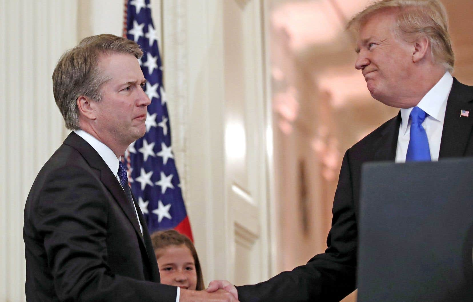 Donald Trump félicite le juge Brett Kavanaugh.