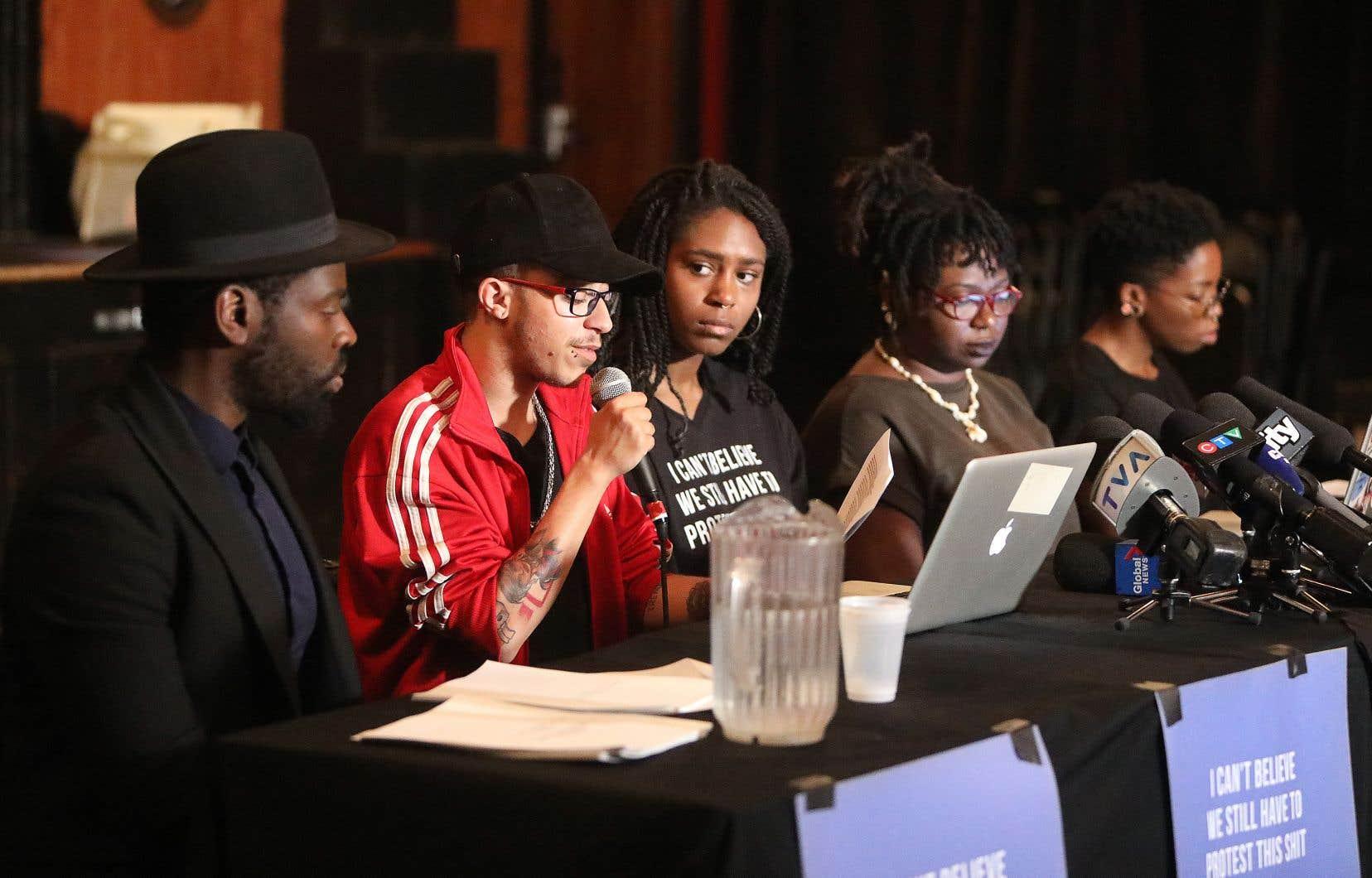 Le collectif SLAV Résistance a rencontré la presse mercredi pour faire état de ses griefs et de ses revendications.