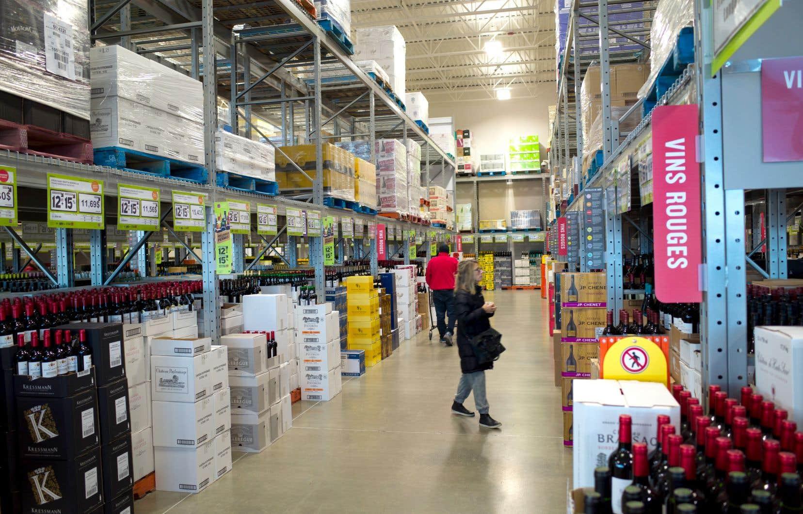 La demande d'action collective visait 34 produits vendus en SAQ, notamment les vins L'Auberge, Smoky Bay et Syrah EXP Californie.
