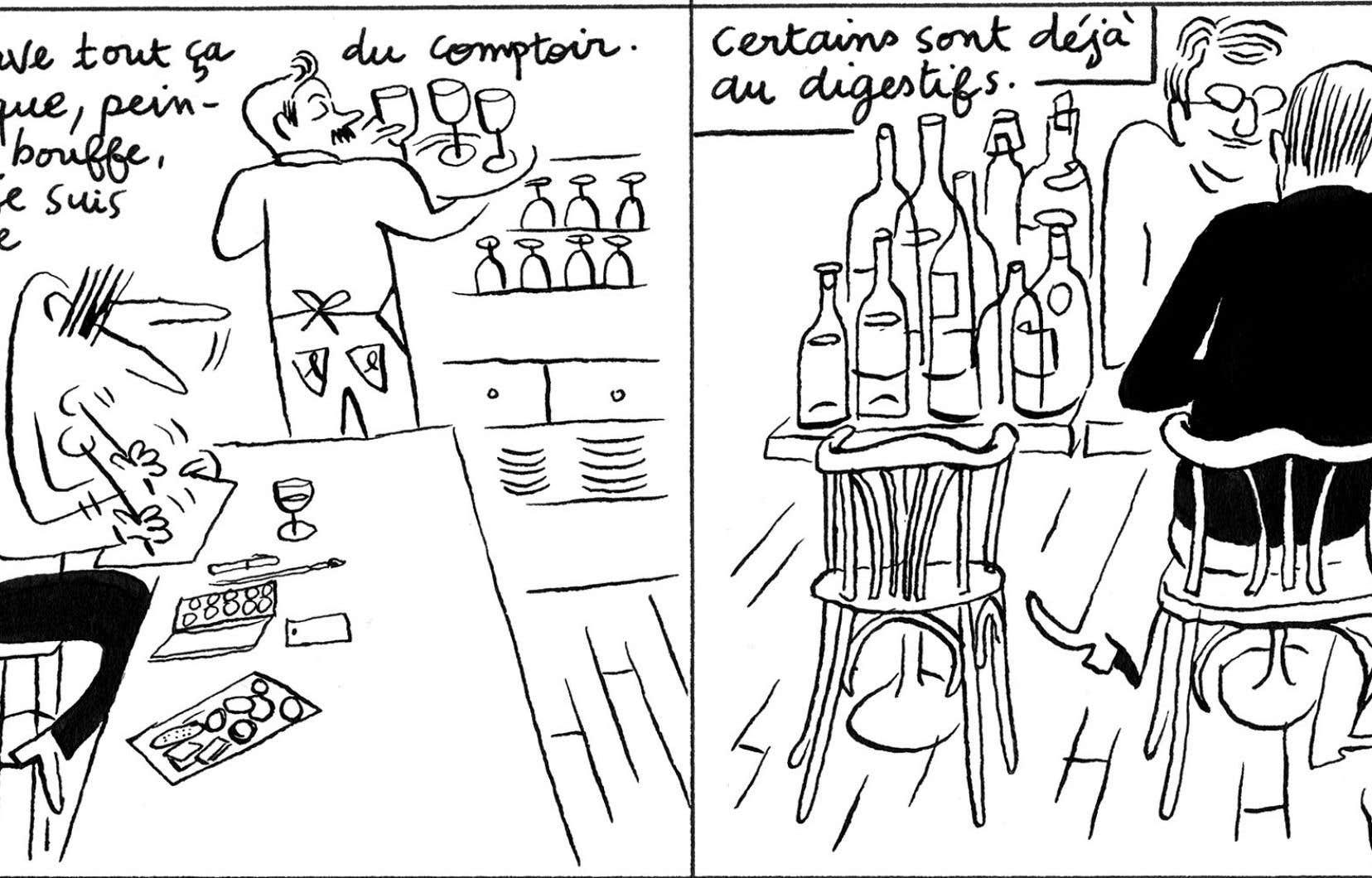 Planche tirée de «Carnets de bouffe», de Cyril Doisneau