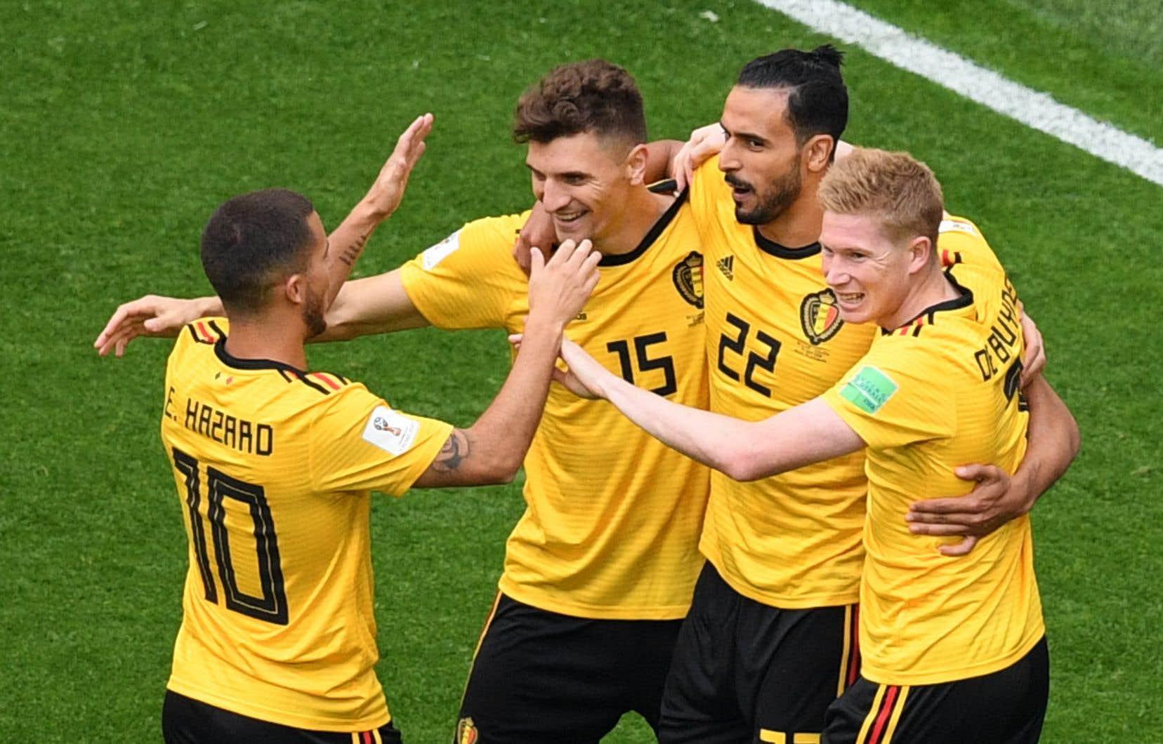 Le défenseur Thomas Meunier a marqué le premier but après seulement 3 minutes et 36 secondes.