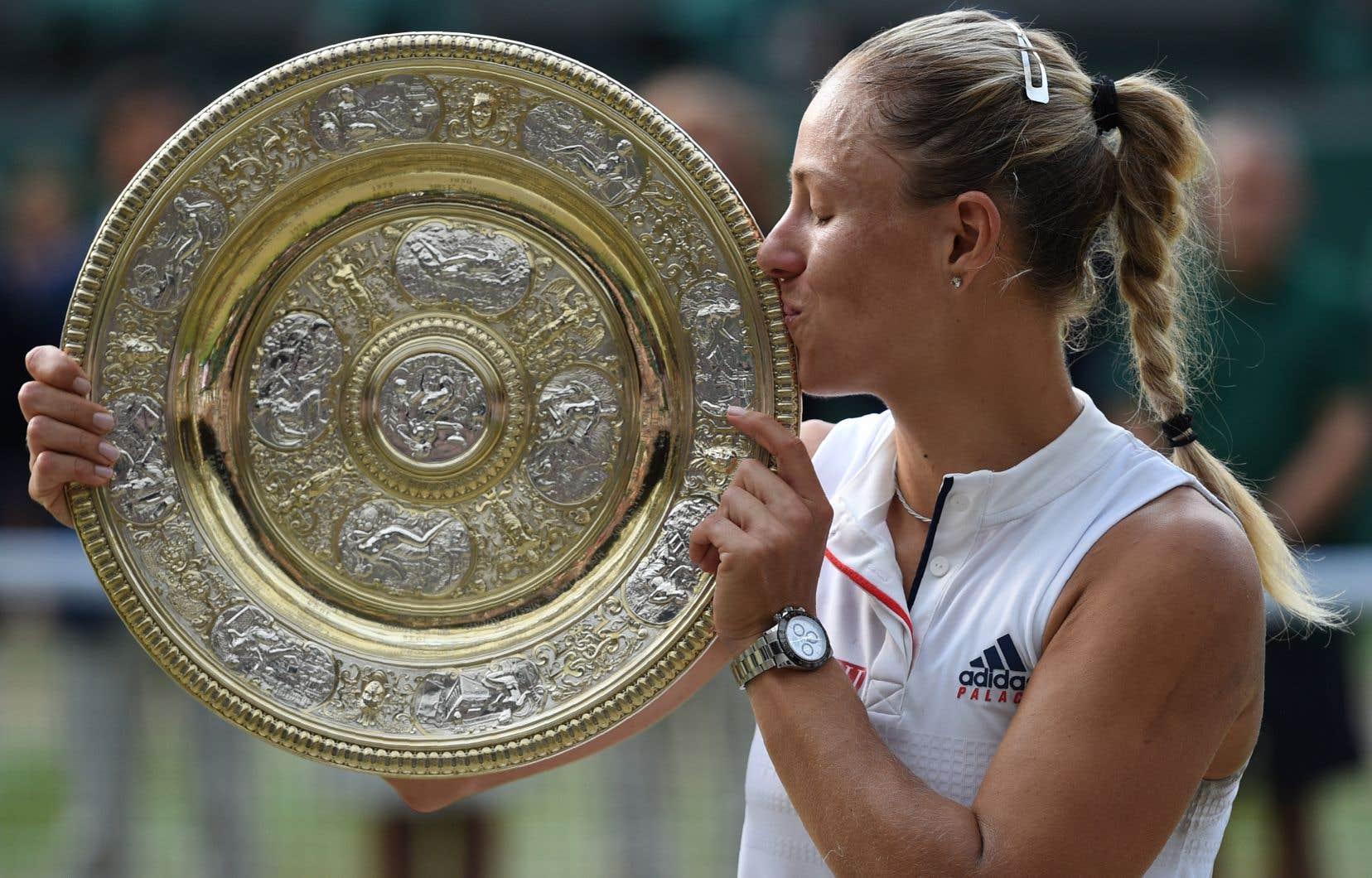 «C'est un rêve qui devient réalité», a souligné Angelique Kerber, qui a remporté pour la première fois le tournoi de Wimbledon.
