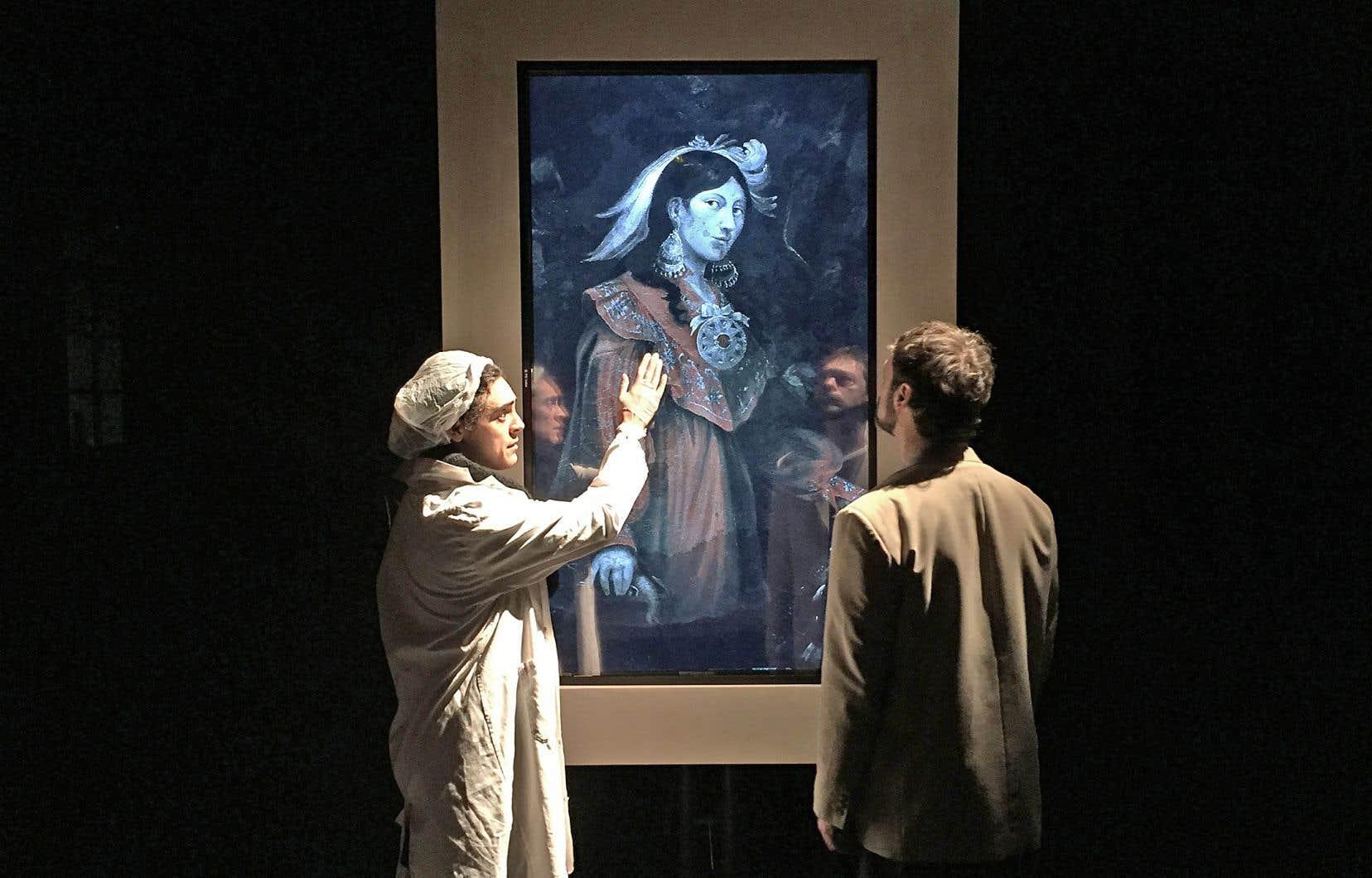 Répétition d'une scène de la pièce «Kanata», en novembre dernier