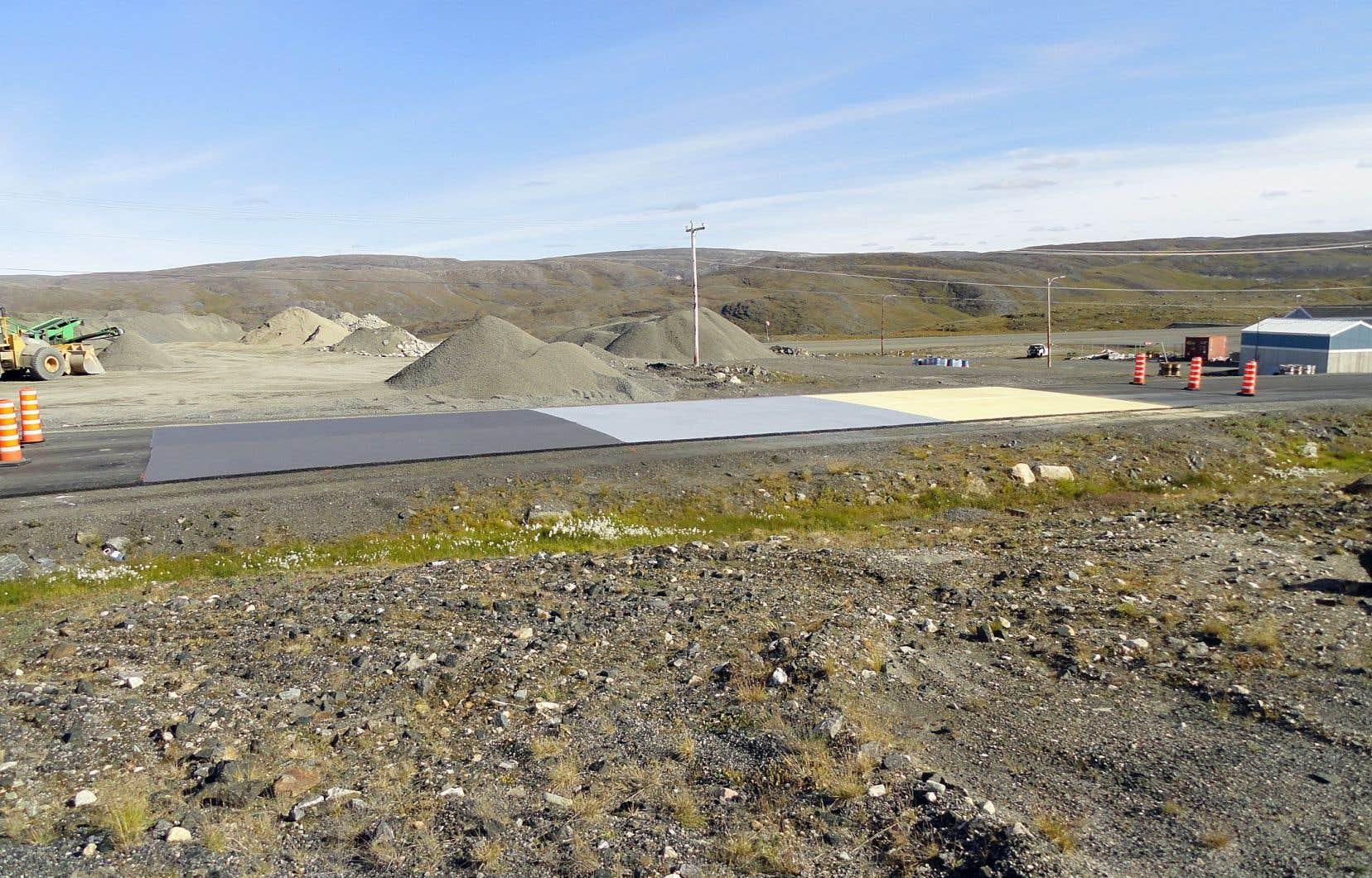 Un des lieux d'essai de l'équipe de chercheurs chapeautée par le professeur Guy Doré, à Salluit, au Nunavik