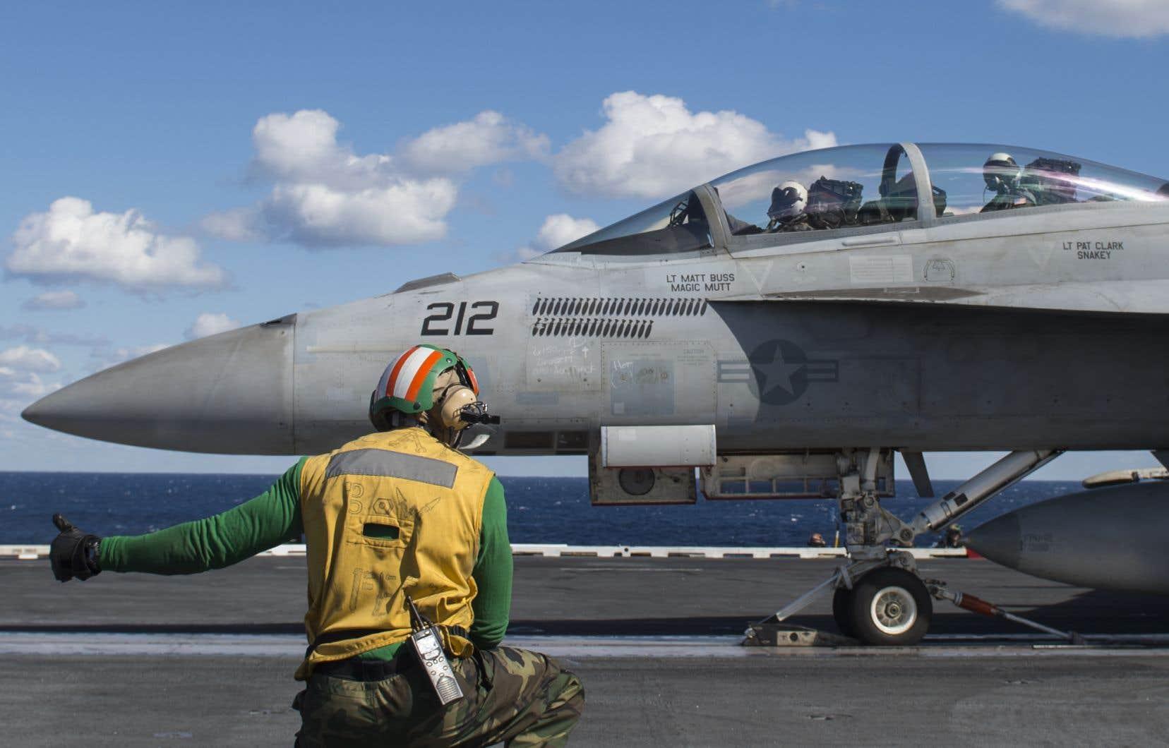 Héroux-Devtek a été retenue par Boeing pour la fabrication du train d'atterrissage principal des avions de chasse Super Hornet F18 et du EA-18G Growler (photo).