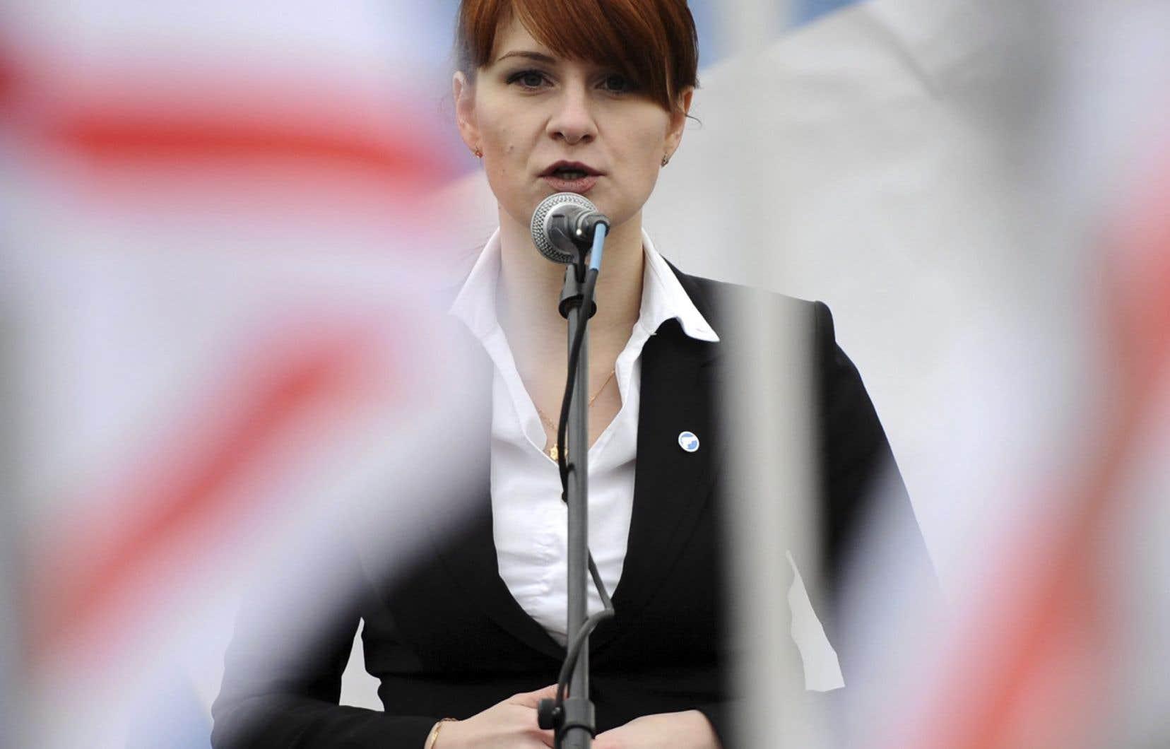 Maria Boutina, 29ans, est accusée d'avoir agi en tant qu'«agente non déclarée d'un gouvernement étranger» et de «complot» pour infiltrer des organisations américaines.