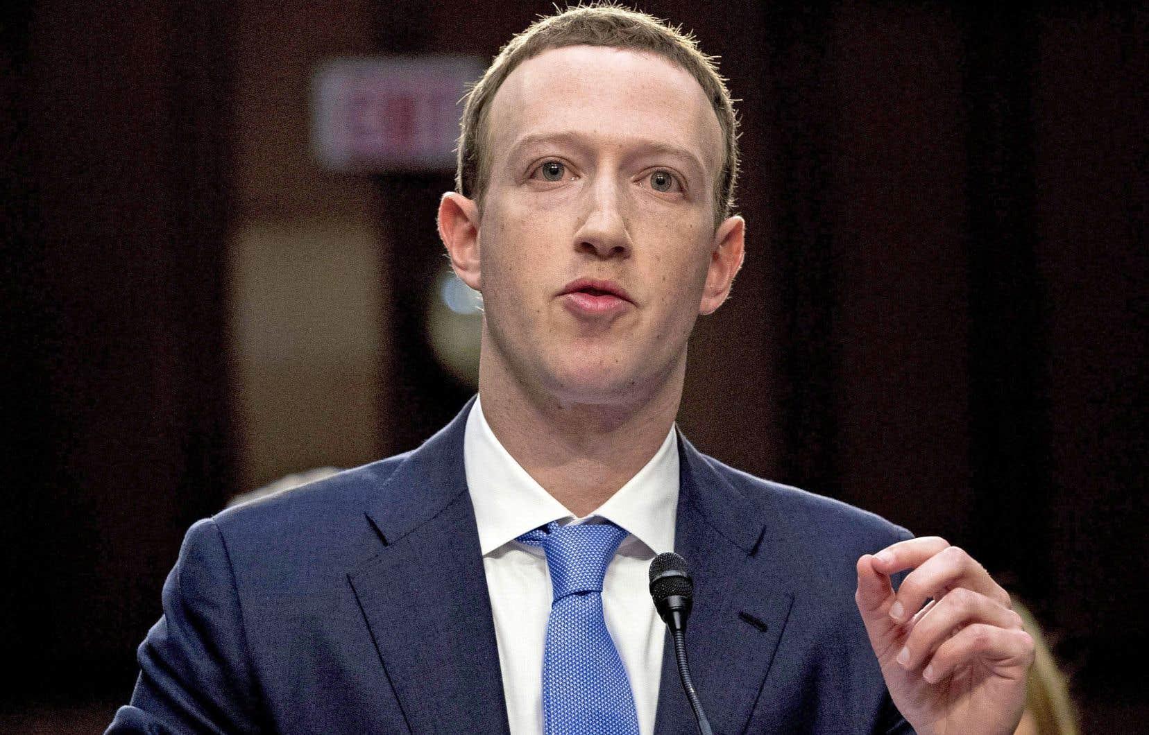 Mark Zuckerberg lors de sa comparution devant la commission du Commerce et de l'Énergie à Washington, en avril dernier