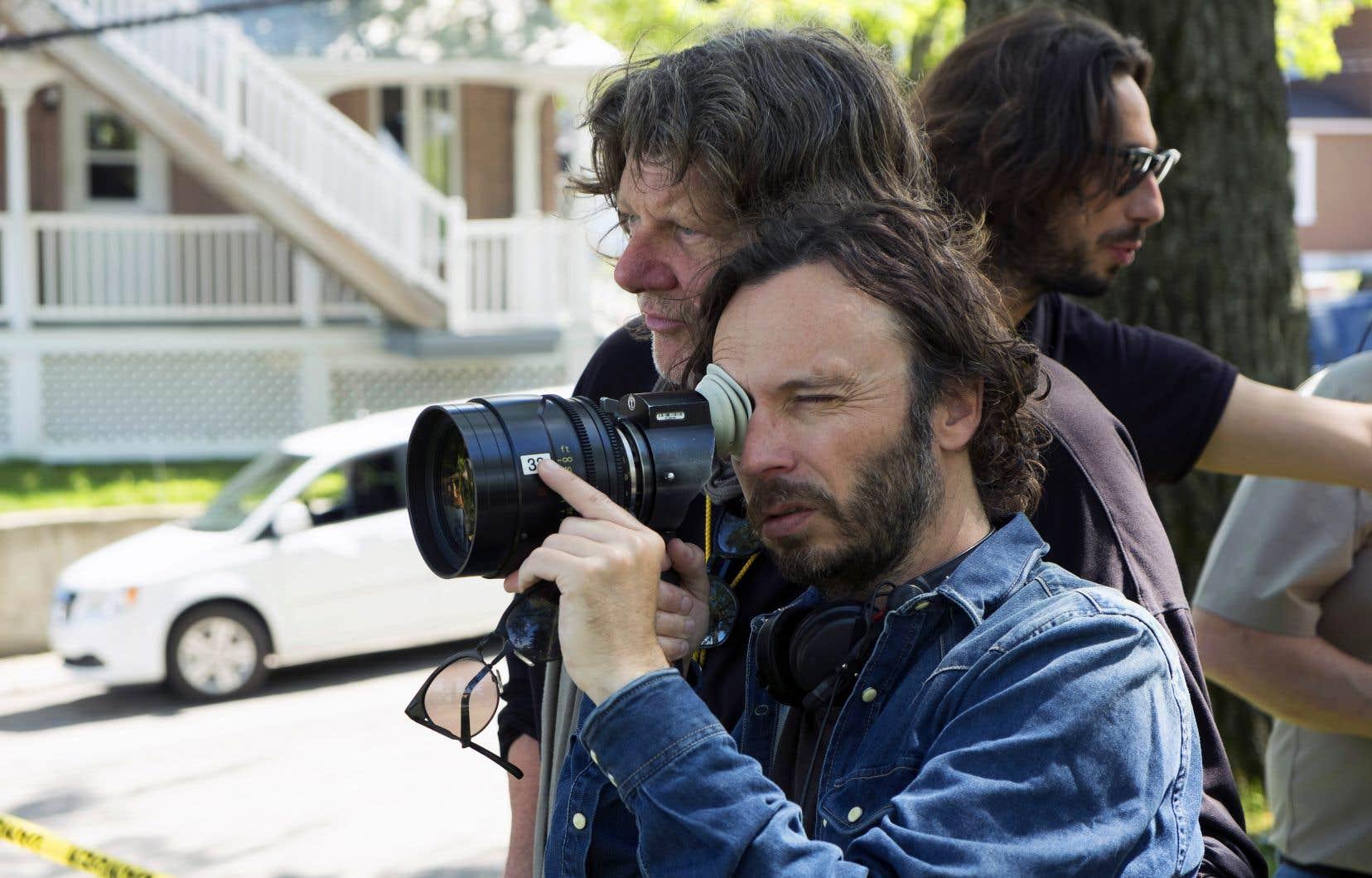 Sébastien Pilote sur le plateau de tournage de son nouveau film, «La disparition des lucioles»