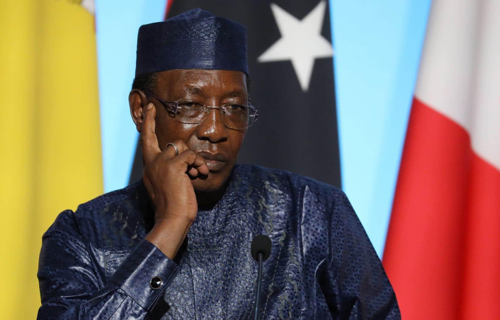 Le président tchadien, Idriss Déby Itno, en août 2017
