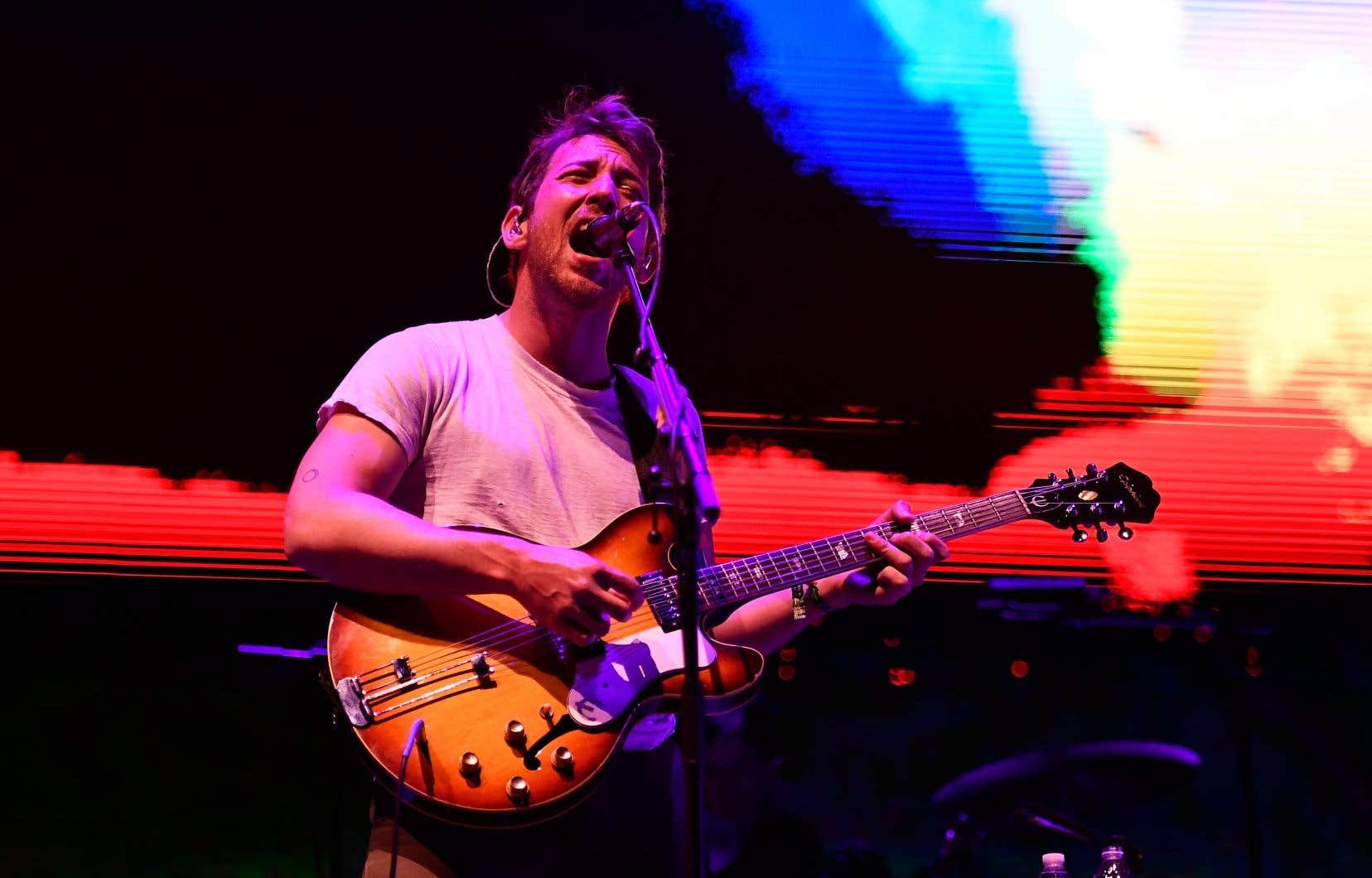Le chanteur et guitariste Robin Pecknold, au festival Coachella en avril dernier