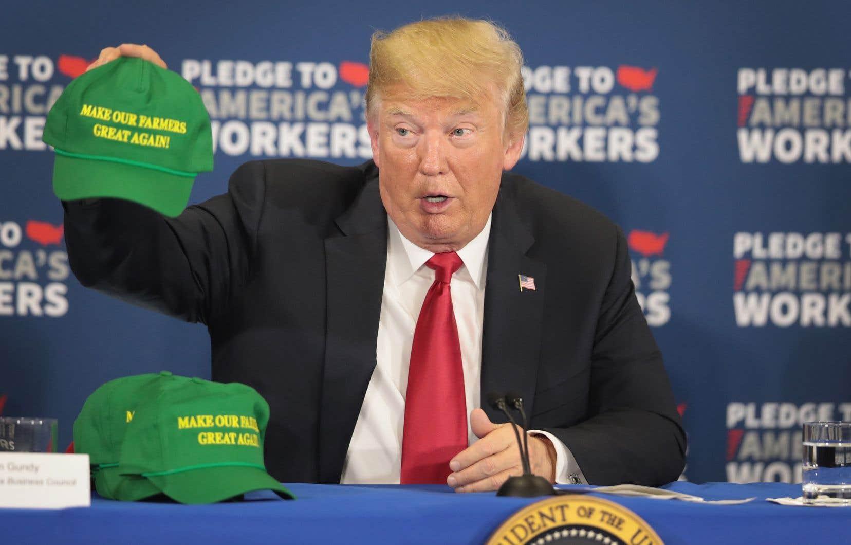 «Nous venons d'ouvrir l'Europe pour vous, agriculteurs», a déclaré le président américain, Donald Trump.