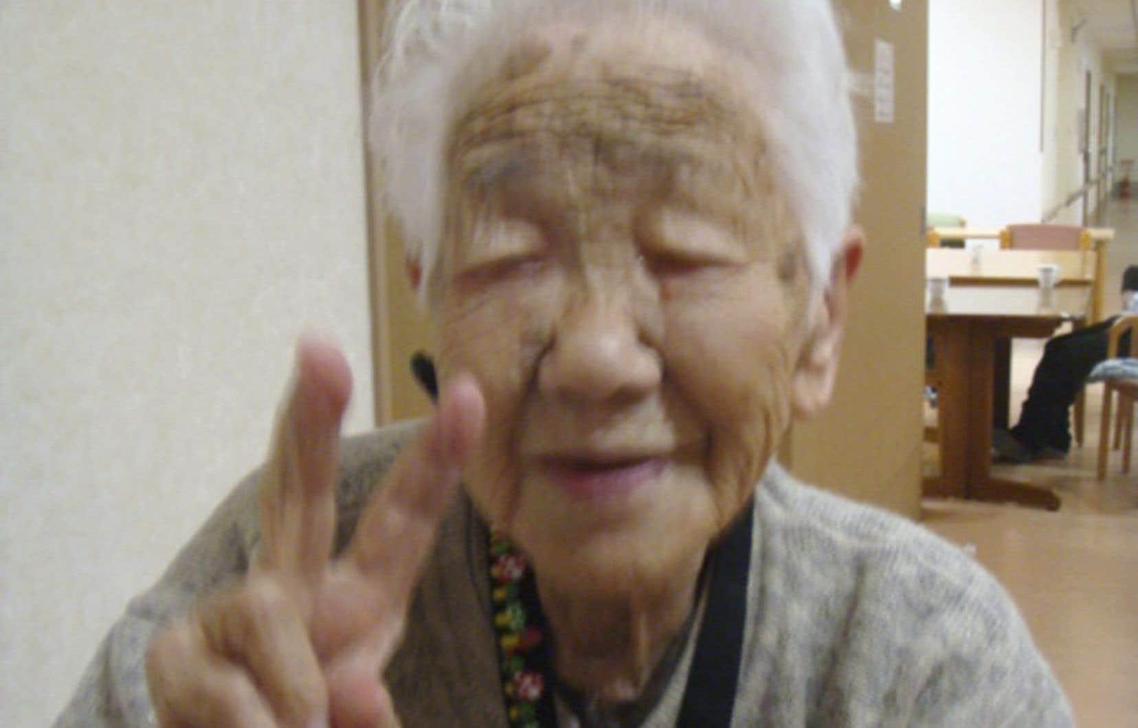<p>Kane Tanaka, âgée de 115ans et possiblement la personne la plus âgée du monde.</p>