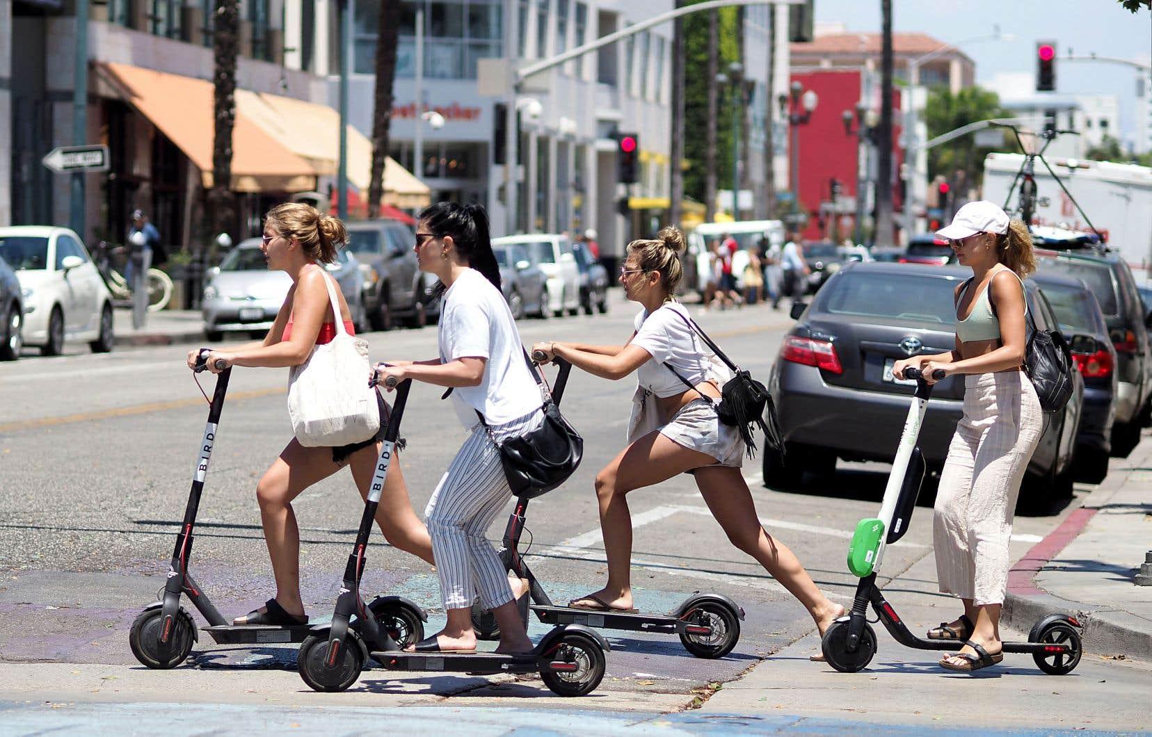 Lancée à la fin de l'année dernière en Californie, la trottinette électrique, offerte en libre-service au moyen d'une application mobile, est, moins d'un an plus tard, présente dans la plupart des grandes villes américaines.