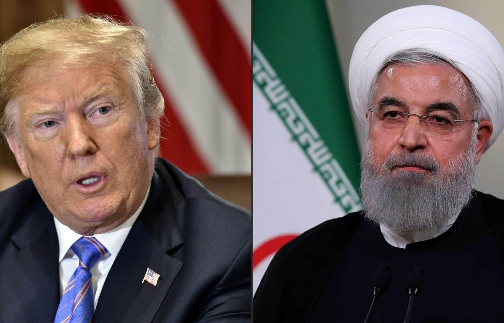 Le président américain, Donald Trump, et son homologue iranien, Hassan Rohani