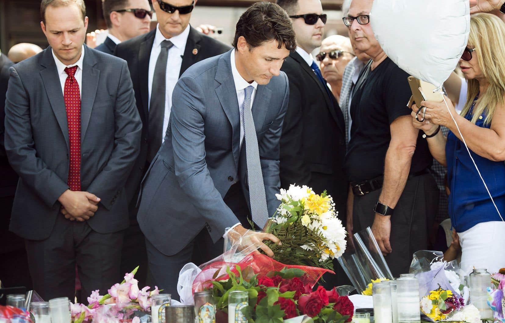 Peu de temps après avoir assisté aux funérailles de Reese Fallon, le premier ministre Justin Trudeau, ému, a tenté d'offrir un peu d'espoir aux proches.