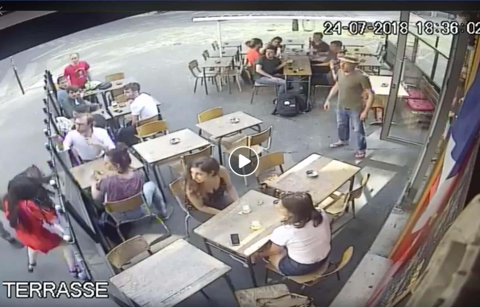 La vidéo de surveillance montre Marie Laguerre, 22 ans, être frappée «au visage en pleine rue, en pleine journée, devant des dizaines de témoins».