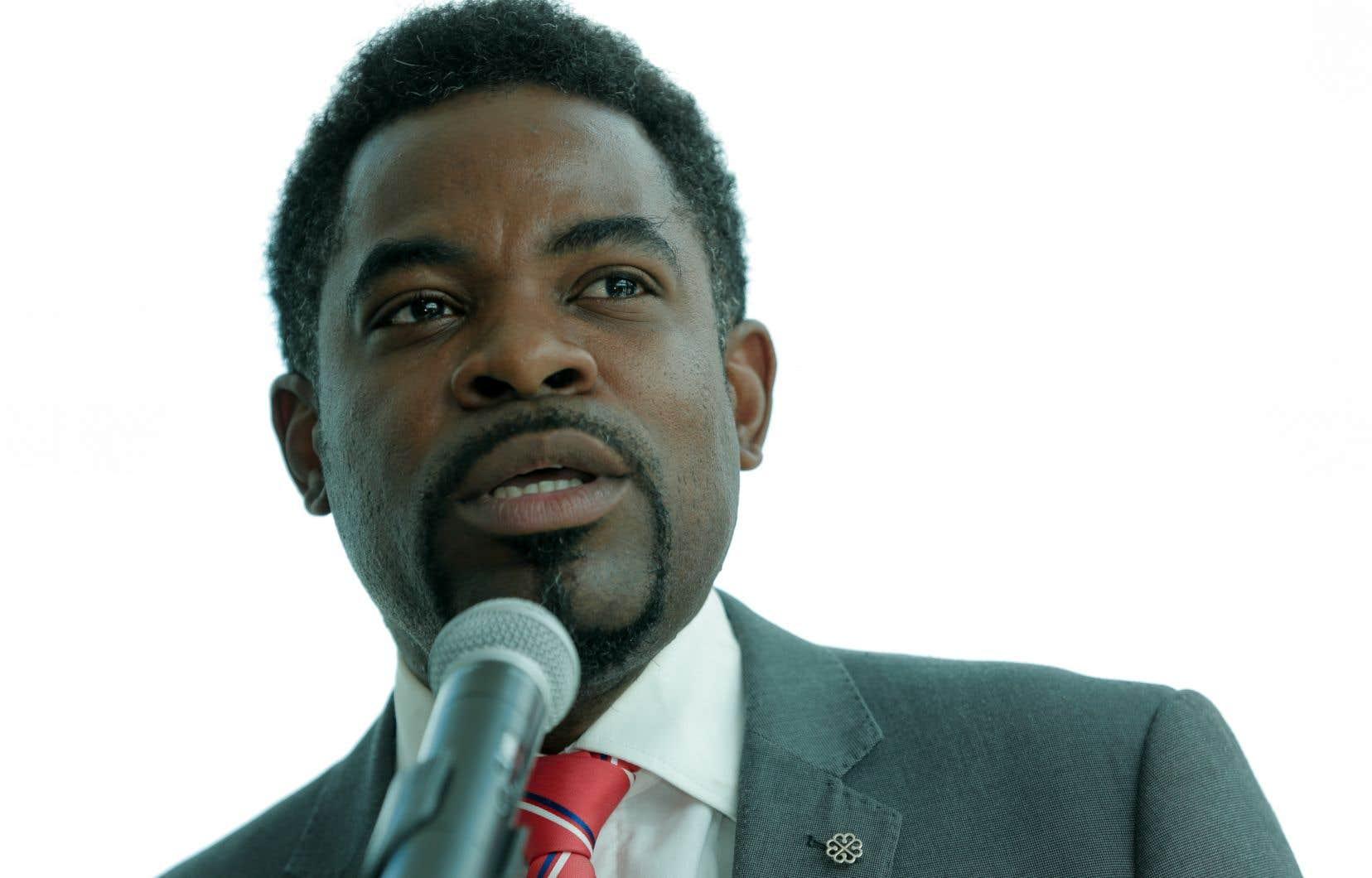 Frantz Benjamin est conseiller municipal du district Saint-Michel à Montréal depuis 2009.