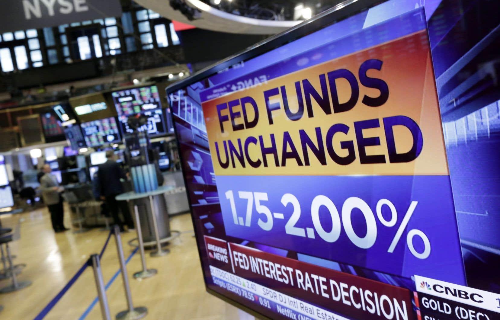 Les taux d'intérêt au jour le jour ont été maintenus dans la fourchette de 1,75% à 2%, comme s'y attendaient les analystes.