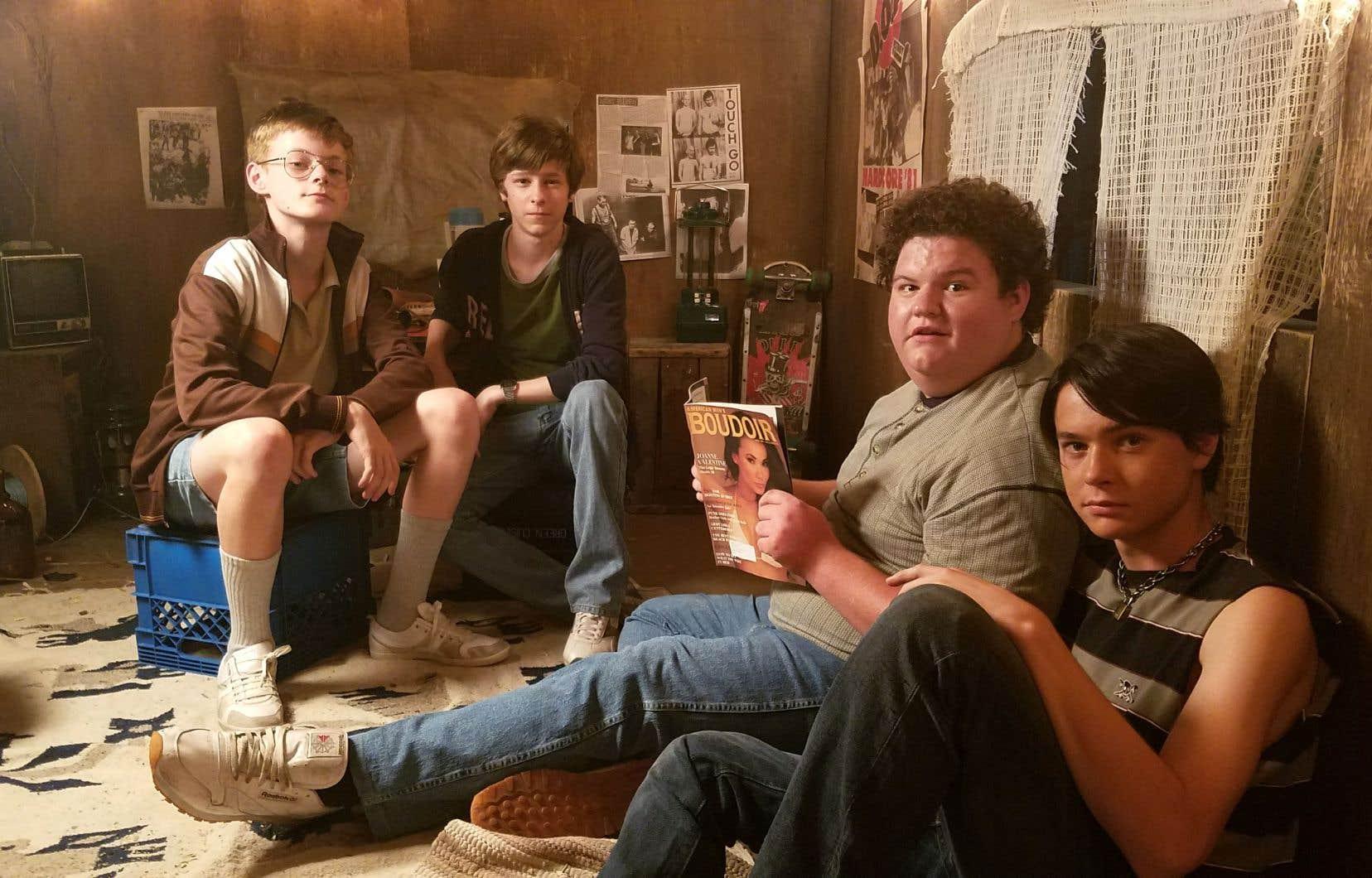 À la manière des «Goonies» ou de «Stand By Me», Davey (deuxième à partir de la gauche) et ses amis s'embarquent dans une aventure sur fond de meurtres au plus fort de l'été.