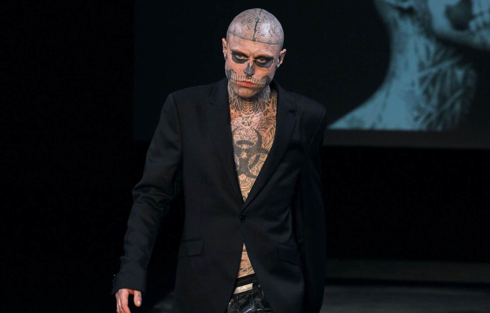 Le Mannequin Rick Genest Alias Zombie Boy Est Decede Le Devoir