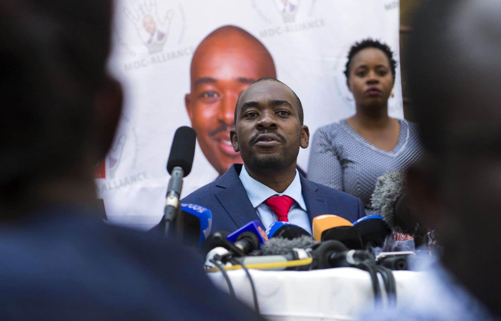 Le chef de l'opposition au Zimbabwe et candidat malheureux à la présidentielle, Nelson Chamisa