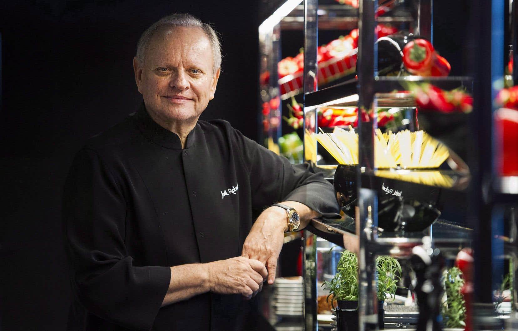 Le chef Joël Robuchon en décembre 2016, lors de l'ouverture de son «Atelier» au Casino de Montréal
