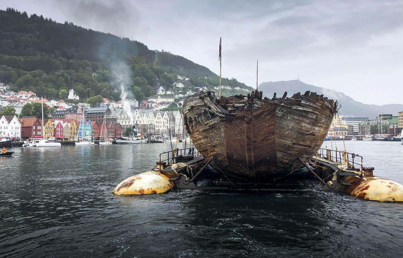 Relique des expéditions polaires norvégiennes, le <em>Maud</em> a été remonté à la surface en 2016 après 85 années passées dans les eaux du Grand Nord canadien.
