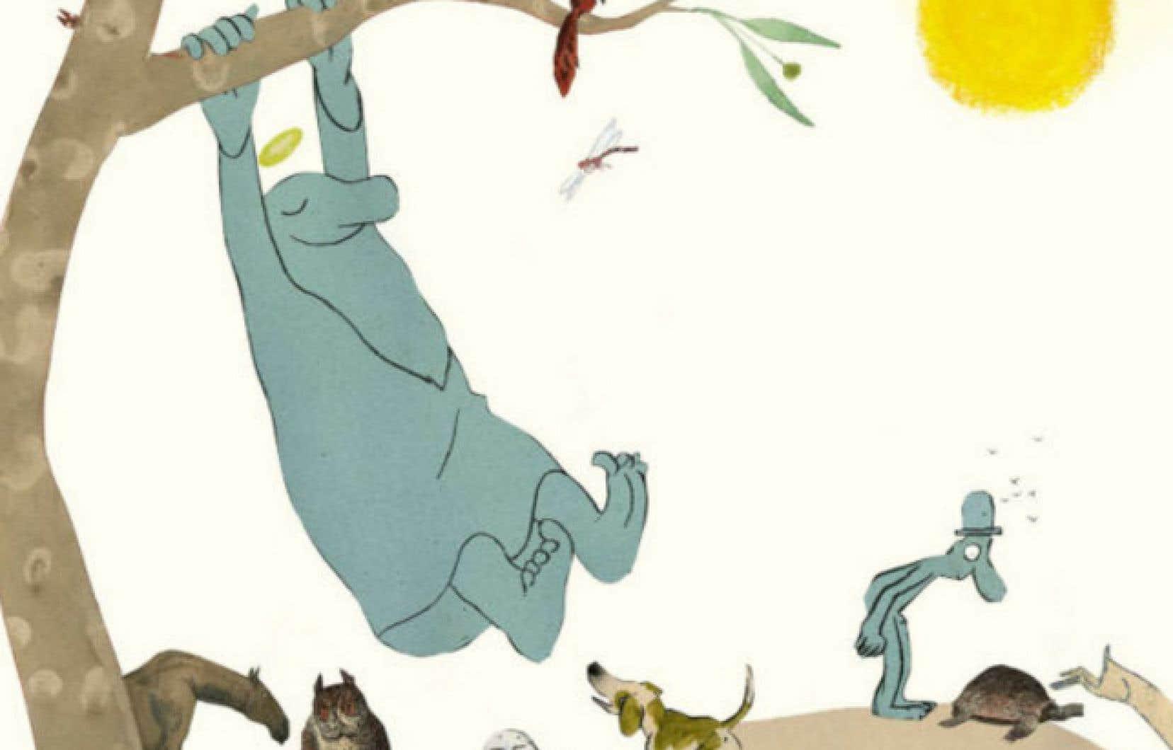 Illustration tirée du livre «La création», un album à haute teneur philosophique saupoudré d'un humour sagace