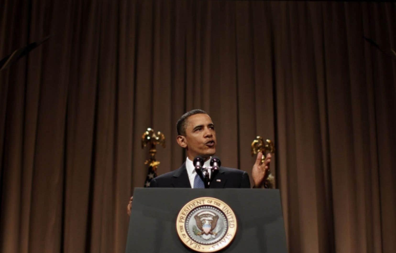 Barack Obama, lors de son passage à Cooper Union: «Je suis ici aujourd'hui parce que je veux que vous soyez à nos côtés, et non contre nous, dans cet effort.»