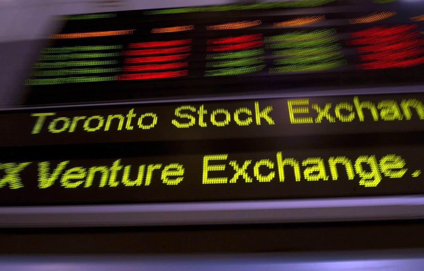 La nouvelle tombe alors que le marché boursier à Toronto a connu mardi une vente massive d'actifs d'un courtier international inconnu.