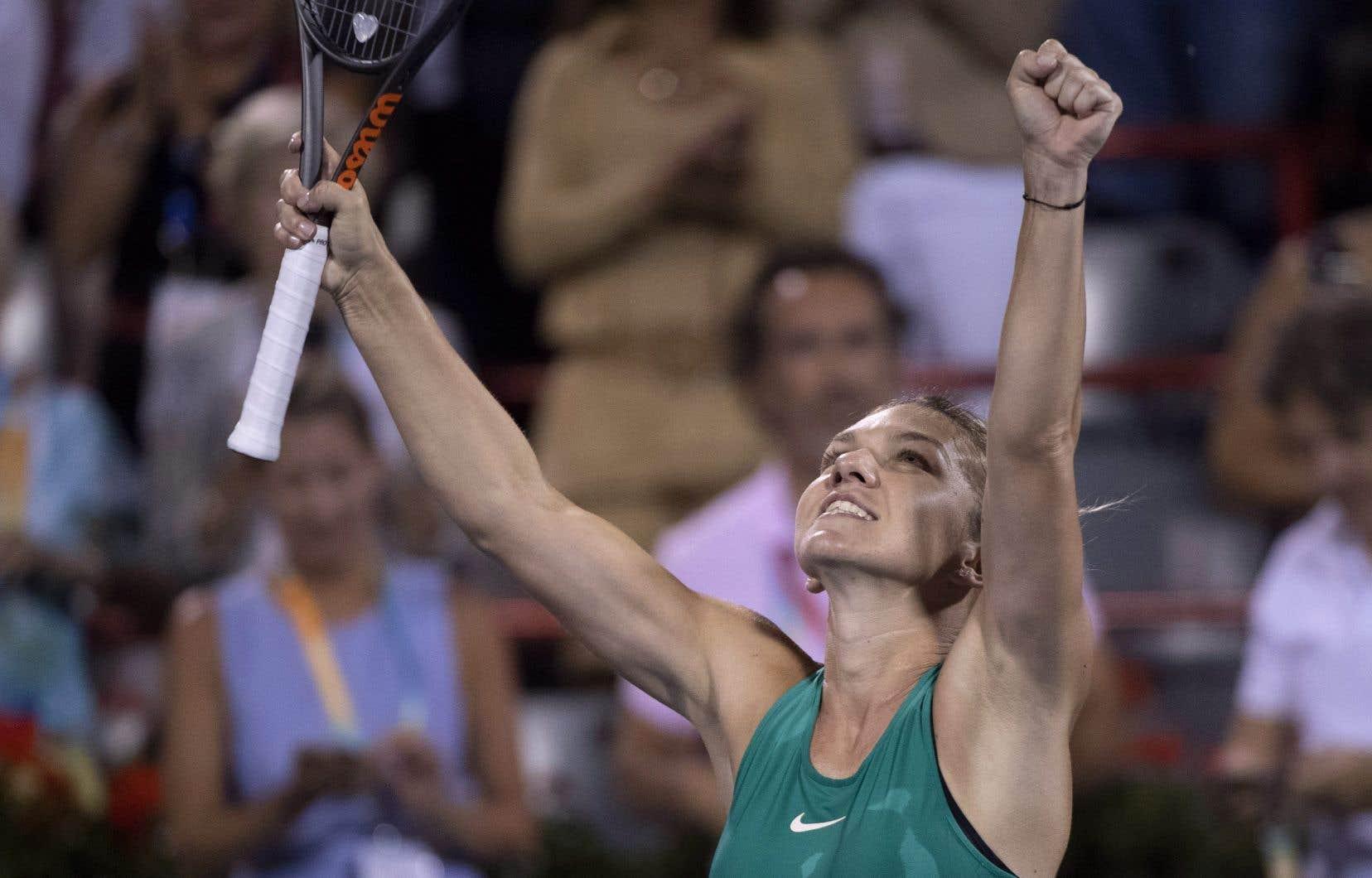 La Roumaine Simona Halep a atteint les quarts de finale de la Coupe Rogers.