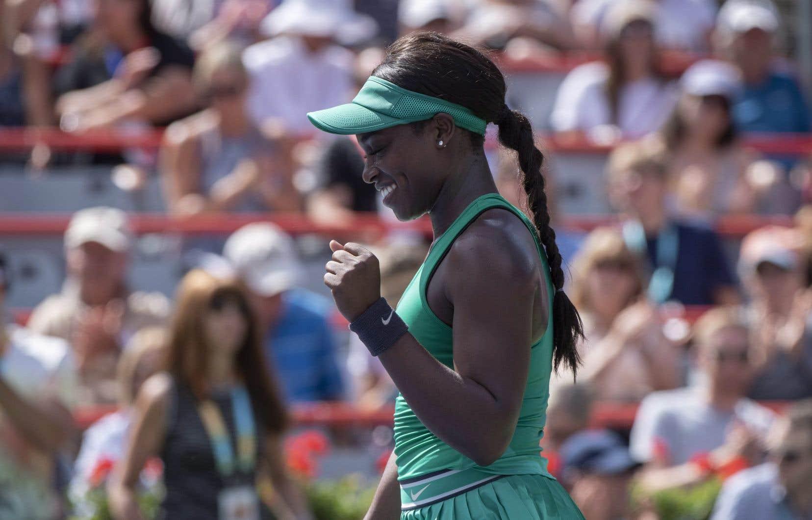 Troisième tête de série, Sloane Stephens n'a encore concédé aucune manche depuis le début du tournoi.