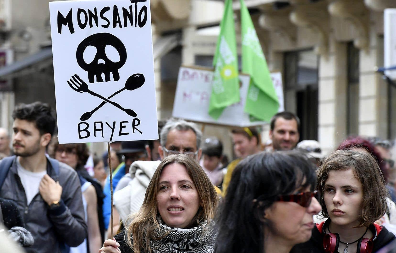 Manifestation contre Monsanto à Bordeaux, en France, le 20 mai 2017